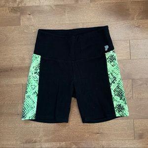 Victoria Secret PINK Black And Green Bike Shorts